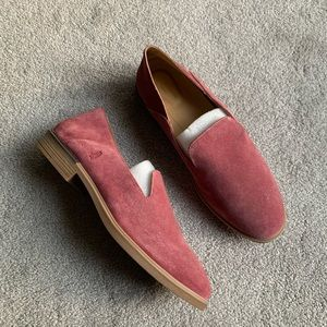 Hush Puppies Bounce Bailey Muave Suede Slip Ons